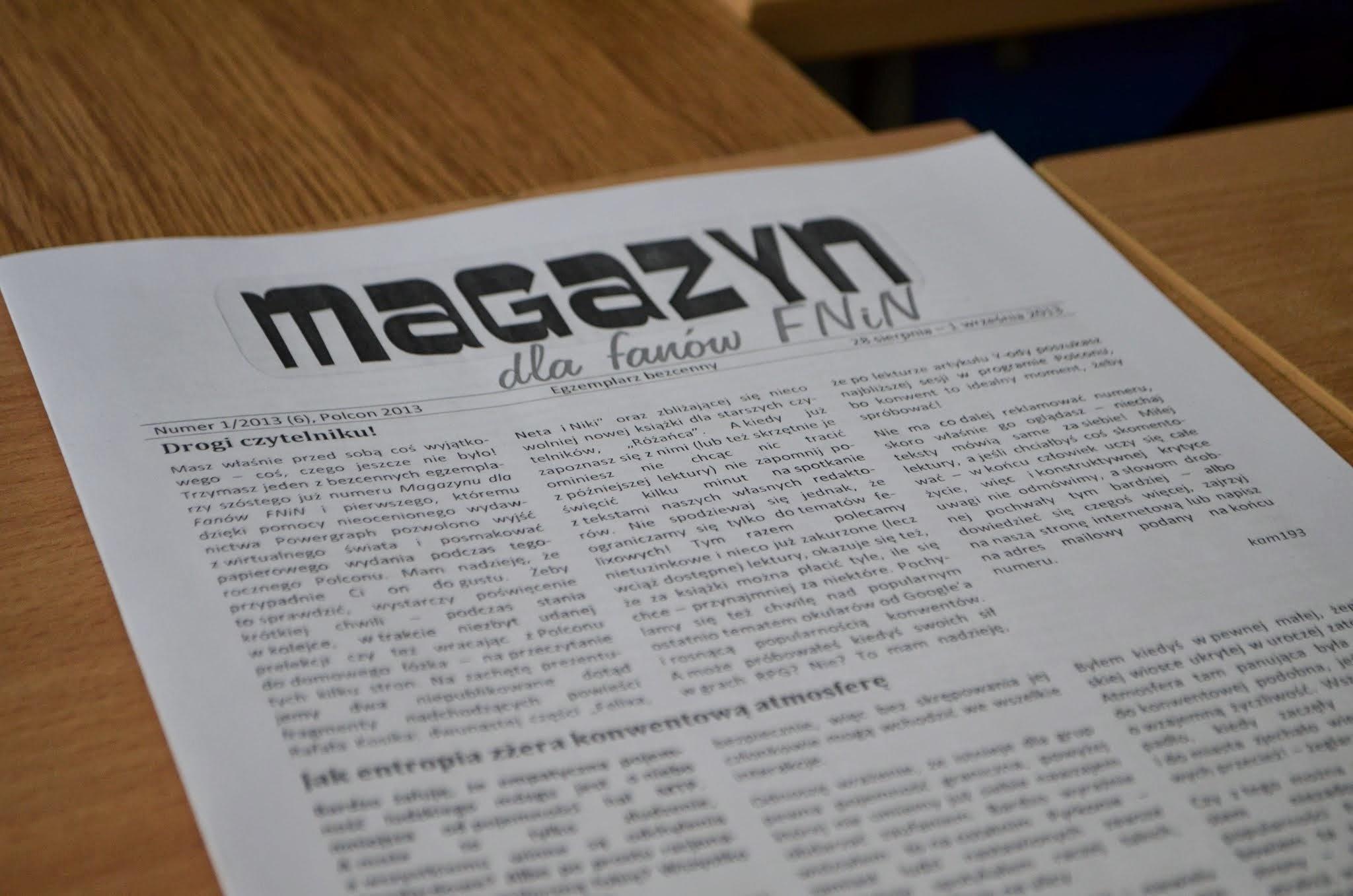 Magazyn #6 - Kliknij obrazek, aby uzyskać większą wersję